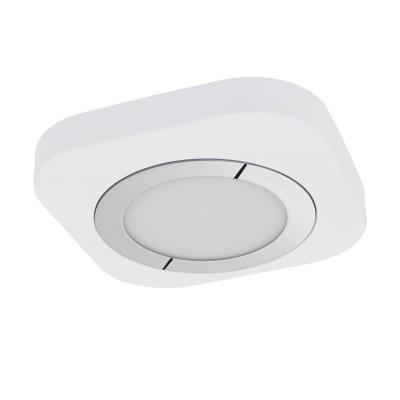 96394 Eglo - Светодиодный накладной светильник PUYOквадратные светильники<br><br><br>Установка на натяжной потолок: Да<br>Цветовая t, К: 3000<br>Тип лампы: LED - светодиодная<br>Тип цоколя: LED, встроенные светодиоды<br>Цвет арматуры: белый<br>Количество ламп: 1<br>Ширина, мм: 230<br>Длина, мм: 230<br>Высота, мм: 40<br>Поверхность арматуры: матовая<br>Оттенок (цвет): белый<br>Общая мощность, Вт: 11