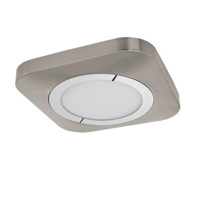 96395 Eglo - Светодиодный накладной светильник PUYOКвадратные<br><br><br>Установка на натяжной потолок: Да<br>Цветовая t, К: 3000<br>Тип лампы: LED - светодиодная<br>Тип цоколя: LED, встроенные светодиоды<br>Цвет арматуры: серебристый/белый<br>Количество ламп: 1<br>Ширина, мм: 230<br>Длина, мм: 230<br>Высота, мм: 40<br>Поверхность арматуры: матовая<br>Оттенок (цвет): никель<br>Общая мощность, Вт: 16.5