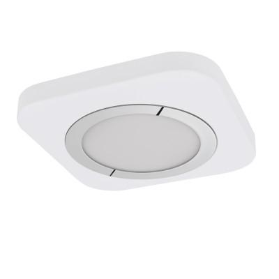 96396 Eglo - Светодиодный накладной светильник PUYOКвадратные<br><br><br>Установка на натяжной потолок: Да<br>Цветовая t, К: 3000<br>Тип лампы: LED - светодиодная<br>Тип цоколя: LED, встроенные светодиоды<br>Цвет арматуры: белый/серебристый<br>Количество ламп: 1<br>Ширина, мм: 230<br>Длина, мм: 230<br>Высота, мм: 40<br>Поверхность арматуры: матовая<br>Оттенок (цвет): белый<br>Общая мощность, Вт: 16.5