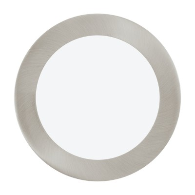 96407 Eglo - Светодиодная ультратонкая встраиваемая панель FUEVA 1 диммир.Металлические потолочные светильники<br><br><br>Установка на натяжной потолок: Да<br>Цветовая t, К: 3000<br>Тип лампы: LED - светодиодная<br>Тип цоколя: LED<br>Цвет арматуры: серебристый<br>Количество ламп: 1<br>Диаметр, мм мм: 170<br>Глубина, мм: 30<br>Диаметр врезного отверстия, мм: 155<br>Поверхность арматуры: матовая<br>Оттенок (цвет): никель<br>Общая мощность, Вт: 10.95