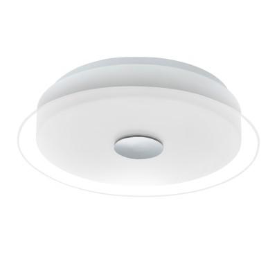 96432 Eglo - Светодиодный потолочный светильник PARELLкруглые светильники<br><br><br>Установка на натяжной потолок: Да<br>Крепление: Планка<br>Цветовая t, К: 3000<br>Тип лампы: LED - светодиодная<br>Тип цоколя: LED, встроенные светодиоды<br>Цвет арматуры: белый/серебристый<br>Количество ламп: 1<br>Диаметр, мм мм: 340<br>Высота, мм: 75<br>Поверхность арматуры: матовая<br>Оттенок (цвет): серебристый<br>Общая мощность, Вт: 11.5