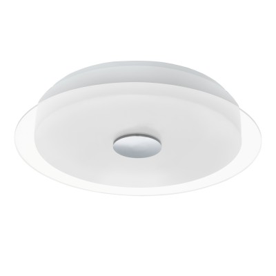 96442 Eglo - Светодиодный потолочный светильник PARELLКруглые<br><br><br>Установка на натяжной потолок: Да<br>Крепление: Планка<br>Цветовая t, К: 3000<br>Тип лампы: LED - светодиодная<br>Тип цоколя: LED, встроенные светодиоды<br>Цвет арматуры: белый/серебристый<br>Количество ламп: 1<br>Диаметр, мм мм: 450<br>Высота, мм: 85<br>Поверхность арматуры: матовая<br>Оттенок (цвет): белый<br>Общая мощность, Вт: 17