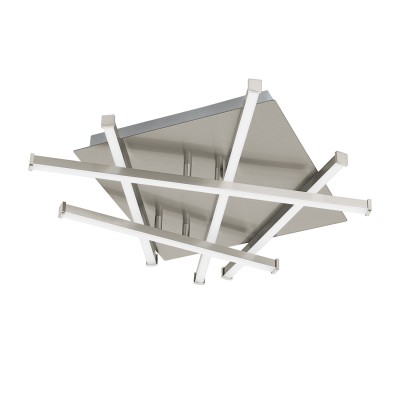 96444 Eglo - Cветодиод. светильник настенно-потолочный RIBASКвадратные<br><br><br>Установка на натяжной потолок: Да<br>Крепление: Планка<br>Цветовая t, К: 3000<br>Тип лампы: LED - светодиодная<br>Тип цоколя: LED, встроенные светодиоды<br>Цвет арматуры: серебристый<br>Количество ламп: 1<br>Ширина, мм: 365<br>Длина, мм: 390<br>Высота, мм: 65<br>Поверхность арматуры: матовая<br>Оттенок (цвет): серебристый<br>Общая мощность, Вт: 17.5