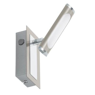 96445 Eglo - Светодиодный спот COEDOодиночные споты<br><br><br>Тип лампы: LED - светодиодная<br>Тип цоколя: LED, встроенные светодиоды<br>Цвет арматуры: серебристый<br>Количество ламп: 1<br>Ширина, мм: 70<br>Длина, мм: 140<br>Поверхность арматуры: матовая<br>Оттенок (цвет): никель<br>MAX мощность ламп, Вт: 4.3