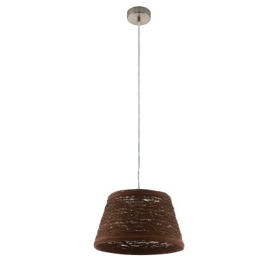 96469 Eglo - Подвес DONADOодиночные подвесные светильники<br><br><br>Установка на натяжной потолок: Да<br>Крепление: Планка<br>Тип лампы: Накаливания / энергосбережения / светодиодная<br>Тип цоколя: E27<br>Цвет арматуры: серебристый<br>Количество ламп: 1<br>Диаметр, мм мм: 385<br>Высота полная, мм: 1100<br>Поверхность арматуры: матовая<br>Оттенок (цвет): никель<br>MAX мощность ламп, Вт: 60