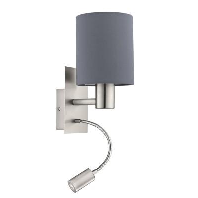96479 Eglo - Бра PASTERI cо светод. подсветкой для чтенияОжидается<br><br><br>Тип лампы: LED - светодиодная
