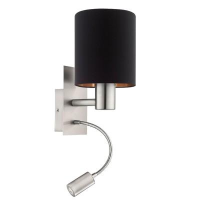 96483 Eglo - Бра PASTERI cо светод. подсветкой для чтенияОжидается<br><br><br>Тип лампы: LED - светодиодная