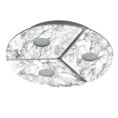 96486 Eglo - Светодиодный светильник настенно-потолочный ALISTEКруглые<br><br><br>Установка на натяжной потолок: Да<br>Цветовая t, К: 3000<br>Тип лампы: LED - светодиодная<br>Тип цоколя: LED, встроенные светодиоды<br>Цвет арматуры: серый<br>Количество ламп: 3<br>Диаметр, мм мм: 300<br>Высота, мм: 50<br>Поверхность арматуры: матовая<br>Оттенок (цвет): серый<br>Общая мощность, Вт: 16.2