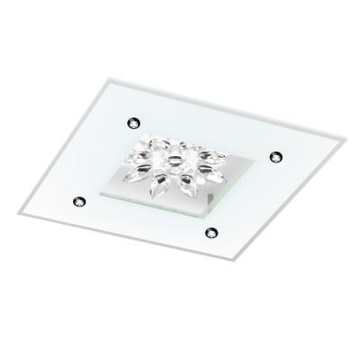 96536 Eglo - Светодиодный светильник настенно-потолочный BENALUA 1Квадратные<br><br><br>Установка на натяжной потолок: Да<br>Крепление: Планка<br>Цветовая t, К: 3000<br>Тип лампы: LED - светодиодная<br>Тип цоколя: LED<br>Цвет арматуры: белый<br>Длина, мм: 370<br>Высота, мм: 75<br>Поверхность арматуры: матовая<br>Оттенок (цвет): белый<br>Общая мощность, Вт: 18