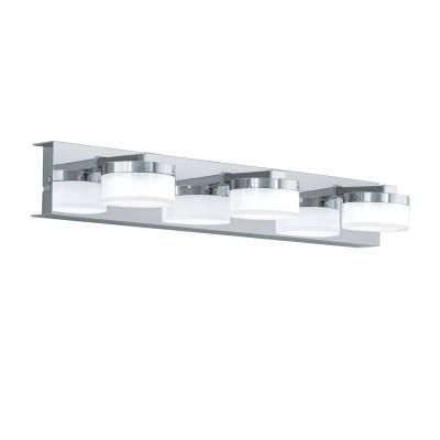 96543 Eglo - Светодиодный бра ROMENDO 1 для ванн. комнаты диммир.современные бра модерн<br><br><br>Цветовая t, К: 3000<br>Тип лампы: LED - светодиодная<br>Тип цоколя: LED, встроенные светодиоды<br>Цвет арматуры: серебристый<br>Количество ламп: 3<br>Ширина, мм: 450<br>Расстояние от стены, мм: 125<br>Высота, мм: 70<br>Поверхность арматуры: глянцевая<br>Оттенок (цвет): серебристый<br>MAX мощность ламп, Вт: 7.2<br>Общая мощность, Вт: 21.6