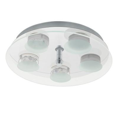96546 Eglo - Светодиодный светильник настенно-потолочный ABIOLA 1круглые светильники<br><br><br>Установка на натяжной потолок: Да<br>Крепление: Планка<br>Цветовая t, К: 3000<br>Тип лампы: LED - светодиодная<br>Тип цоколя: LED, встроенные светодиоды<br>Цвет арматуры: серебристый<br>Количество ламп: 5<br>Диаметр, мм мм: 350<br>Высота, мм: 65<br>Поверхность арматуры: матовая<br>Оттенок (цвет): никель<br>MAX мощность ламп, Вт: 5.4<br>Общая мощность, Вт: 27