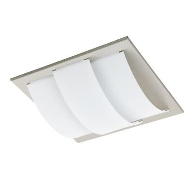 96549 Eglo - Светодиодный настенно-потолочный светильник ARANDAквадратные светильники<br><br><br>Установка на натяжной потолок: Да<br>Крепление: Планка<br>Цветовая t, К: 3000<br>Тип лампы: LED - светодиодная<br>Тип цоколя: LED, встроенные светодиоды<br>Цвет арматуры: серебристый<br>Количество ламп: 1<br>Ширина, мм: 290<br>Длина, мм: 290<br>Высота, мм: 85<br>Поверхность арматуры: матовая<br>Оттенок (цвет): никель<br>Общая мощность, Вт: 11