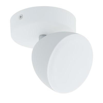 96595 Eglo - Светодиодный спот CALVOSодиночные споты<br><br><br>Цветовая t, К: 3000<br>Тип лампы: LED - светодиодная<br>Тип цоколя: LED, встроенные светодиоды<br>Цвет арматуры: белый<br>Количество ламп: 1<br>Диаметр, мм мм: 95<br>Поверхность арматуры: матовая<br>Оттенок (цвет): белый<br>MAX мощность ламп, Вт: 6