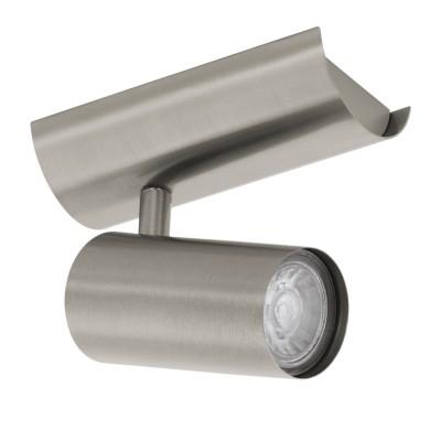 96611 Eglo - Светодиодный спот PERSANTОдиночные<br><br><br>Установка на натяжной потолок: Да<br>Крепление: Планка<br>Тип лампы: галогенная/LED - светодиодная<br>Тип цоколя: GU10<br>Цвет арматуры: серебристый<br>Количество ламп: 1<br>Ширина, мм: 65<br>Длина, мм: 140<br>Поверхность арматуры: матовая<br>Оттенок (цвет): никель<br>MAX мощность ламп, Вт: 50