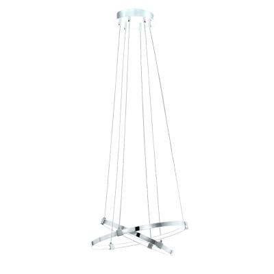 96639 Eglo - Светодиодный подвес NEBREDAПодвесные<br><br><br>Установка на натяжной потолок: Да<br>S освещ. до, м2: 8<br>Крепление: Планка<br>Цветовая t, К: 3000<br>Тип лампы: LED - светодиодная<br>Тип цоколя: LED, встроенные светодиоды<br>Цвет арматуры: серебристый<br>Количество ламп: 2<br>Диаметр, мм мм: 450<br>Высота полная, мм: 1200<br>Поверхность арматуры: глянцевая<br>Оттенок (цвет): серебристый<br>MAX мощность ламп, Вт: 6.7/8.7<br>Общая мощность, Вт: 15.4
