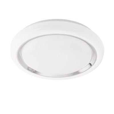 96686 Eglo - Светодиодный настенно-потолочный CAPASSO-C EGLO connectКруглые<br><br><br>S освещ. до, м2: 7<br>Цветовая t, К: 2700 - 6500<br>Тип лампы: LED - светодиодная<br>Диаметр, мм мм: 340<br>Высота, мм: 85<br>MAX мощность ламп, Вт: 17