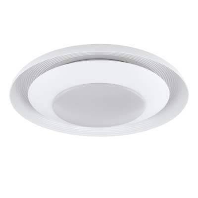 96691 Eglo - Светодиодный светильник настенно-потолочный CANICOSA диммир.Круглые<br><br><br>Установка на натяжной потолок: Да<br>Крепление: Планка<br>Цветовая t, К: 2700 - 5000<br>Тип лампы: LED - светодиодная<br>Тип цоколя: LED, встроенные светодиоды<br>Цвет арматуры: белый<br>Количество ламп: 1<br>Диаметр, мм мм: 495<br>Высота, мм: 100<br>Поверхность арматуры: матовая<br>Оттенок (цвет): белый<br>Общая мощность, Вт: 21.5