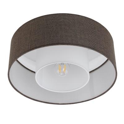 96723 Eglo - Потолочный светильник FONTAOПотолочные<br><br><br>Установка на натяжной потолок: Ограничено<br>S освещ. до, м2: 3<br>Тип лампы: Накаливания / энергосбережения / светодиодная<br>Тип цоколя: E27<br>Количество ламп: 1<br>MAX мощность ламп, Вт: 60<br>Диаметр, мм мм: 380<br>Высота, мм: 150