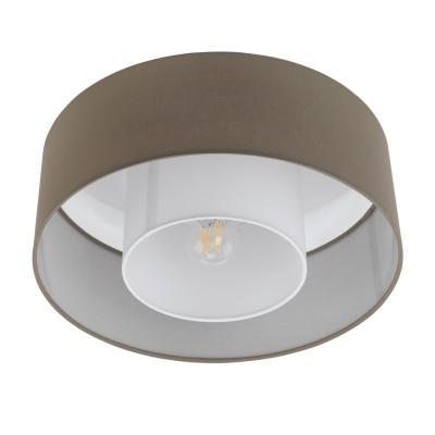96725 Eglo - Потолочный светильник FONTAOПотолочные<br><br><br>Установка на натяжной потолок: Ограничено<br>S освещ. до, м2: 3<br>Тип лампы: Накаливания / энергосбережения / светодиодная<br>Тип цоколя: E27<br>Количество ламп: 1<br>Диаметр, мм мм: 380<br>Высота, мм: 150<br>MAX мощность ламп, Вт: 60