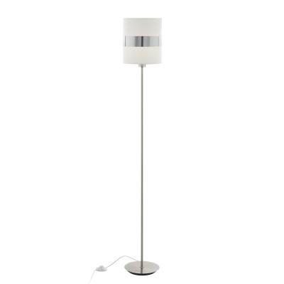 96757 Eglo - Торшер с ножн. выкл. ABTONСовременные<br><br><br>Тип лампы: Накаливания / энергосбережения / светодиодная<br>Тип цоколя: E27<br>Цвет арматуры: серебристый<br>Количество ламп: 1<br>Диаметр, мм мм: 225<br>Размеры основания, мм: 220<br>Высота, мм: 1550<br>Поверхность арматуры: матовая<br>Оттенок (цвет): никель<br>MAX мощность ламп, Вт: 60