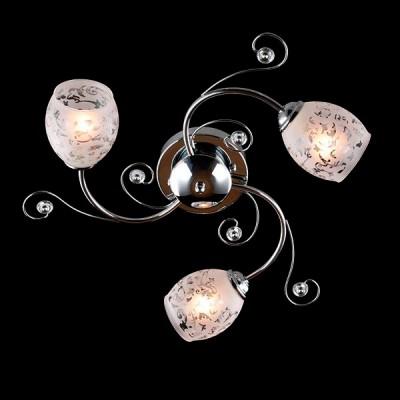 Светильник Евросвет 9677/3 хромПотолочные<br><br><br>S освещ. до, м2: 9<br>Тип лампы: Накаливания / энергосбережения / светодиодная<br>Тип цоколя: E27<br>Количество ламп: 3<br>MAX мощность ламп, Вт: 60<br>Диаметр, мм мм: 550<br>Высота, мм: 220<br>Цвет арматуры: серебристый
