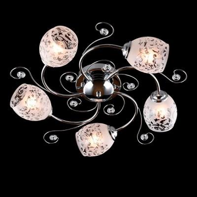 Люстра потолочная Евросвет 9677/5 хромПотолочные<br><br><br>Установка на натяжной потолок: Да<br>S освещ. до, м2: 15<br>Крепление: Планка<br>Тип лампы: Накаливания / энергосбережения / светодиодная<br>Тип цоколя: E27<br>Количество ламп: 5<br>MAX мощность ламп, Вт: 60<br>Диаметр, мм мм: 550<br>Высота, мм: 220<br>Цвет арматуры: серебристый