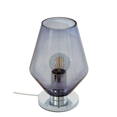 96775 Eglo - Настольная лампа MURMILLOСовременные<br><br><br>Тип лампы: Накаливания / энергосбережения / светодиодная<br>Тип цоколя: E27<br>Цвет арматуры: серебристый<br>Количество ламп: 1<br>Диаметр, мм мм: 170<br>Размеры основания, мм: 120<br>Высота, мм: 245<br>Поверхность арматуры: глянцевая<br>Оттенок (цвет): серебристый<br>MAX мощность ламп, Вт: 60
