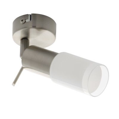 96786 Eglo - Светодиодный спот VEDRAодиночные споты<br><br><br>Установка на натяжной потолок: Да<br>Крепление: Планка<br>Цветовая t, К: 3000<br>Тип лампы: LED - светодиодная<br>Тип цоколя: LED, встроенные светодиоды<br>Цвет арматуры: серебристый<br>Количество ламп: 1<br>Диаметр, мм мм: 70<br>Поверхность арматуры: матовая<br>Оттенок (цвет): никель<br>MAX мощность ламп, Вт: 3.5