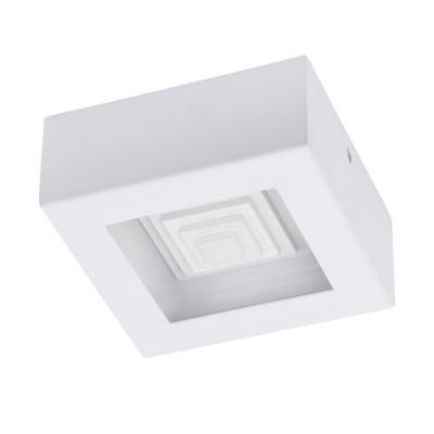 96791 Eglo - Светодиодный настенно-потолочный светильник FERREROSквадратные светильники<br><br><br>Цветовая t, К: 3000<br>Тип лампы: LED - светодиодная<br>Тип цоколя: LED, встроенные светодиоды<br>Цвет арматуры: белый<br>Количество ламп: 1<br>Ширина, мм: 140<br>Высота, мм: 60<br>Поверхность арматуры: матовая<br>Оттенок (цвет): белый<br>MAX мощность ламп, Вт: 6.3