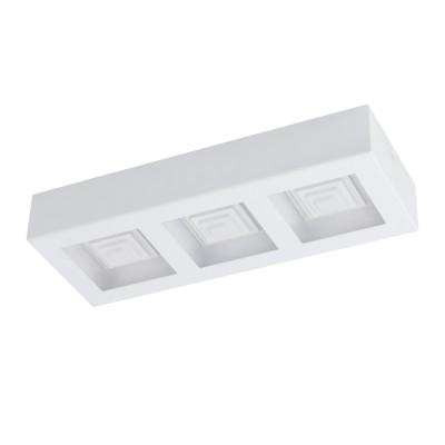 96793 Eglo - Светодиодный настенно-потолочный светильник FERREROSпрямоугольные светильники<br><br><br>Цветовая t, К: 3000<br>Тип лампы: LED - светодиодная<br>Тип цоколя: LED, встроенные светодиоды<br>Цвет арматуры: белый<br>Количество ламп: 3<br>Ширина, мм: 140<br>Длина, мм: 370<br>Высота, мм: 60<br>Поверхность арматуры: матовая<br>Оттенок (цвет): белый<br>MAX мощность ламп, Вт: 6.3<br>Общая мощность, Вт: 18.9