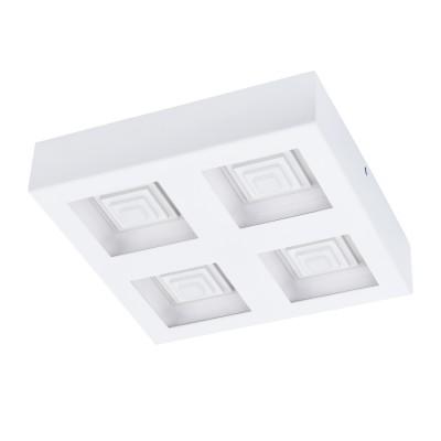 96794 Eglo - Светодиодный настенно-потолочный светильник FERREROSКвадратные<br><br><br>Цветовая t, К: 3000<br>Тип лампы: LED - светодиодная<br>Тип цоколя: LED, встроенные светодиоды<br>Цвет арматуры: белый<br>Количество ламп: 4<br>Ширина, мм: 270<br>Длина, мм: 270<br>Высота, мм: 60<br>Поверхность арматуры: матовая<br>Оттенок (цвет): белый<br>MAX мощность ламп, Вт: 6.3<br>Общая мощность, Вт: 25.2