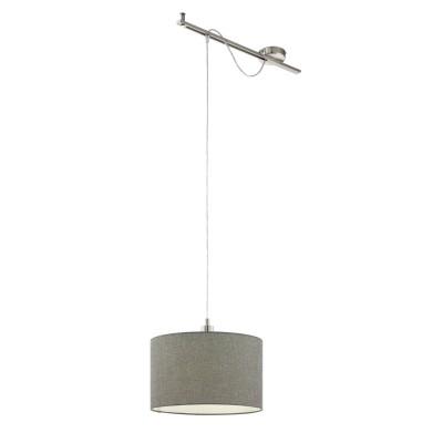 96796 Eglo - Подвес CALCENAодиночные подвесные светильники<br><br><br>Установка на натяжной потолок: Да<br>Крепление: Планка<br>Тип лампы: Накаливания / энергосбережения / светодиодная<br>Тип цоколя: E27<br>Цвет арматуры: серебристый<br>Количество ламп: 1<br>Ширина, мм: 380<br>Высота полная, мм: 1300<br>Длина, мм: 580<br>Высота, мм: 450<br>Поверхность арматуры: матовая<br>Оттенок (цвет): никель<br>MAX мощность ламп, Вт: 60