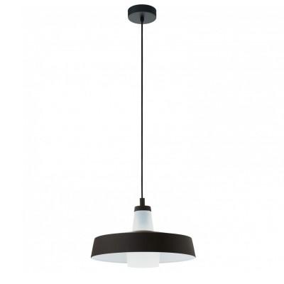 96803 Eglo - Подвес TABANERAОдиночные<br><br><br>Установка на натяжной потолок: Да<br>Крепление: Планка<br>Тип лампы: Накаливания / энергосбережения / светодиодная<br>Тип цоколя: E27<br>Цвет арматуры: черный<br>Количество ламп: 1<br>Высота полная, мм: 1100<br>Поверхность арматуры: матовая<br>Оттенок (цвет): черный<br>MAX мощность ламп, Вт: 60