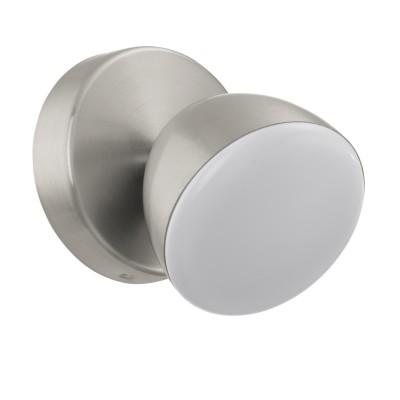 96807 Eglo - Светодиодный спот CALVOSодиночные споты<br><br><br>Цветовая t, К: 3000<br>Тип лампы: LED - светодиодная<br>Тип цоколя: LED, встроенные светодиоды<br>Цвет арматуры: серебристый<br>Количество ламп: 1<br>Диаметр, мм мм: 95<br>Поверхность арматуры: матовая<br>Оттенок (цвет): никель<br>MAX мощность ламп, Вт: 6