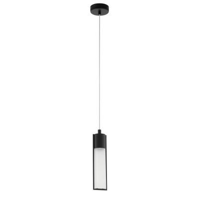96812 Eglo - Подвес WALENAодиночные подвесные светильники<br><br><br>Установка на натяжной потолок: Да<br>Крепление: Планка<br>Цветовая t, К: 3000<br>Тип лампы: галогенная/LED - светодиодная<br>Тип цоколя: GU10<br>Цвет арматуры: черный<br>Количество ламп: 1<br>Диаметр, мм мм: 100<br>Высота полная, мм: 1500<br>Высота, мм: 500<br>Поверхность арматуры: матовая<br>Оттенок (цвет): черный<br>MAX мощность ламп, Вт: 50