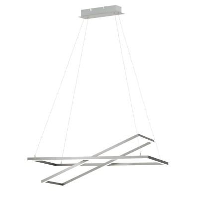 96815 Eglo - Светодиодный подвес TAMASERA диммир.подвесные люстры хай тек<br><br><br>Установка на натяжной потолок: Да<br>Крепление: Планка<br>Цветовая t, К: 3000<br>Тип лампы: LED - светодиодная<br>Тип цоколя: LED, встроенные светодиоды<br>Цвет арматуры: серебристый<br>Количество ламп: 2<br>Ширина, мм: 400<br>Высота полная, мм: 1500<br>Длина, мм: 800<br>Поверхность арматуры: матовая<br>Оттенок (цвет): никель<br>MAX мощность ламп, Вт: 16/19<br>Общая мощность, Вт: 35