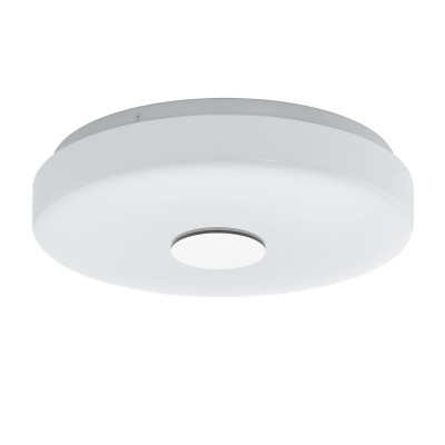 96819 Eglo - Светодиодный настенно-потолочный светильник BERAMO-C EGLO connectкруглые светильники<br><br><br>Установка на натяжной потолок: Да<br>Цветовая t, К: 2700 - 6500 - RGB<br>Тип лампы: LED - светодиодная<br>Тип цоколя: LED, встроенные светодиоды<br>Цвет арматуры: белый<br>Количество ламп: 1<br>Диаметр, мм мм: 290<br>Высота, мм: 70<br>Поверхность арматуры: матовая<br>Оттенок (цвет): белый<br>Общая мощность, Вт: 17
