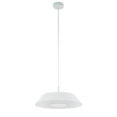 96868 Eglo - Cветодиод. подвес CARMAZANA диммир.одиночные подвесные светильники<br><br><br>Установка на натяжной потолок: Да<br>S освещ. до, м2: 8<br>Крепление: Планка<br>Цветовая t, К: 3000<br>Тип лампы: LED - светодиодная<br>Тип цоколя: LED, встроенные светодиоды<br>Цвет арматуры: белый<br>Количество ламп: 1<br>Диаметр, мм мм: 450<br>Высота полная, мм: 1100<br>Поверхность арматуры: матовая<br>Оттенок (цвет): белый<br>Общая мощность, Вт: 17