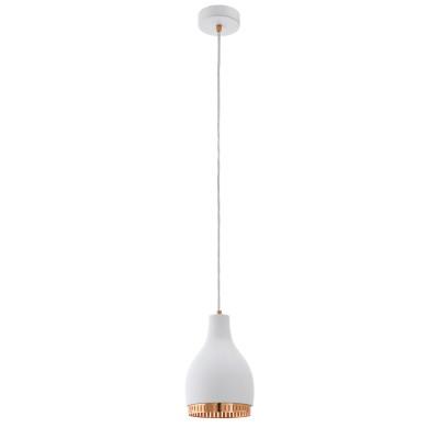 96871 Eglo - Подвес COCNOодиночные подвесные светильники<br><br><br>Установка на натяжной потолок: Да<br>Крепление: Планка<br>Тип лампы: Накаливания / энергосбережения / светодиодная<br>Тип цоколя: E27<br>Цвет арматуры: белый/медь<br>Количество ламп: 1<br>Диаметр, мм мм: 165<br>Высота полная, мм: 1100<br>Поверхность арматуры: матовая<br>Оттенок (цвет): белый<br>MAX мощность ламп, Вт: 60