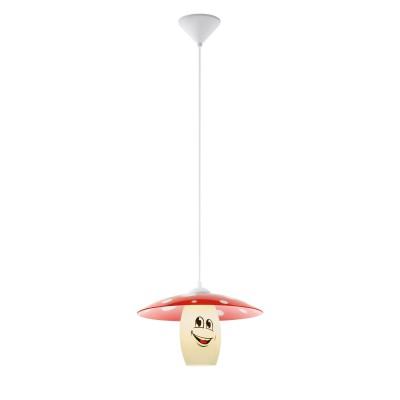 96879 Eglo - Подвес в детскую комнату FUNJIодиночные подвесные светильники<br><br><br>Тип лампы: Накаливания / энергосбережения / светодиодная<br>Тип цоколя: E27<br>Цвет арматуры: белый<br>Количество ламп: 1<br>Диаметр, мм мм: 360<br>Высота полная, мм: 1100<br>Поверхность арматуры: матовая<br>Оттенок (цвет): белый<br>MAX мощность ламп, Вт: 60