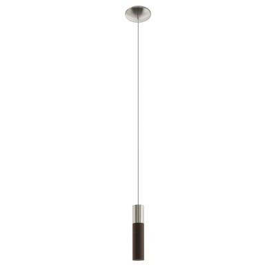 96881 Eglo - Подвес VILLORAодиночные подвесные светильники<br><br><br>Установка на натяжной потолок: Да<br>Крепление: Планка<br>Тип лампы: галогенная/LED - светодиодная<br>Тип цоколя: GU10<br>Цвет арматуры: серебристый<br>Количество ламп: 1<br>Диаметр, мм мм: 100<br>Высота полная, мм: 1500<br>Поверхность арматуры: глянцевая<br>Оттенок (цвет): никель<br>MAX мощность ламп, Вт: 50