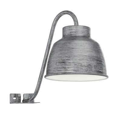 96887 Eglo - Светодиодный бра для ванной комнаты EPILAРустика<br><br><br>Цветовая t, К: 3000<br>Тип лампы: LED - светодиодная<br>Тип цоколя: GU10<br>Цвет арматуры: серый<br>Количество ламп: 1<br>Ширина, мм: 145<br>Расстояние от стены, мм: 275<br>Высота, мм: 205<br>Поверхность арматуры: матовая<br>Оттенок (цвет): серый<br>MAX мощность ламп, Вт: 50