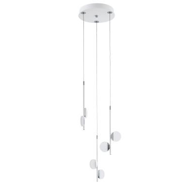 96931 Eglo - Светодиодный подвес OLINDRA диммир.современные подвесные люстры модерн<br><br><br>Установка на натяжной потолок: Да<br>Крепление: Планка<br>Цветовая t, К: 3000<br>Тип лампы: LED - светодиодная<br>Тип цоколя: LED, встроенные светодиоды<br>Цвет арматуры: белый/серебристый<br>Количество ламп: 6<br>Диаметр, мм мм: 290<br>Высота полная, мм: 1500<br>Поверхность арматуры: матовая<br>Оттенок (цвет): белый<br>MAX мощность ламп, Вт: 2.2<br>Общая мощность, Вт: 13.2