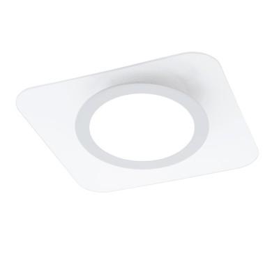 96935 Eglo - Светодиодный светильник настенно-потолочный REDUCTAквадратные светильники<br><br><br>Установка на натяжной потолок: Да<br>Крепление: Планка<br>Цветовая t, К: 3000<br>Тип лампы: LED - светодиодная<br>Тип цоколя: LED, встроенные светодиоды<br>Цвет арматуры: белый<br>Количество ламп: 1<br>Ширина, мм: 380<br>Длина, мм: 380<br>Высота, мм: 45<br>Поверхность арматуры: матовая<br>Оттенок (цвет): белый<br>Общая мощность, Вт: 19