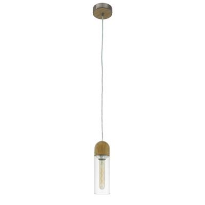 96944 Eglo - Светодиодный подвес ZACHARO 1Одиночные<br><br><br>Установка на натяжной потолок: Да<br>Крепление: Планка<br>Цветовая t, К: 3000<br>Тип лампы: LED - светодиодная<br>Тип цоколя: E27<br>Цвет арматуры: серебристый/коричневый<br>Количество ламп: 1<br>Диаметр, мм мм: 100<br>Высота полная, мм: 1500<br>Поверхность арматуры: матовая<br>Оттенок (цвет): никель<br>MAX мощность ламп, Вт: 60