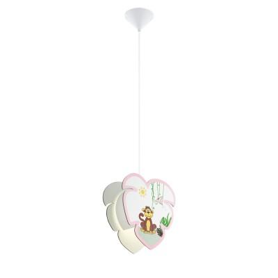 96951 Eglo - Подвес в детскую комнату LOUIEодиночные подвесные светильники<br><br><br>Тип лампы: Накаливания / энергосбережения / светодиодная<br>Тип цоколя: E27<br>Цвет арматуры: белый<br>Количество ламп: 1<br>Ширина, мм: 105<br>Высота полная, мм: 1100<br>Длина, мм: 290<br>Поверхность арматуры: матовая<br>Оттенок (цвет): белый<br>MAX мощность ламп, Вт: 60