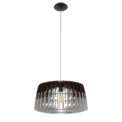96956 Eglo - Подвес ARTANAодиночные подвесные светильники<br><br><br>Установка на натяжной потолок: Да<br>S освещ. до, м2: 3<br>Крепление: Планка<br>Тип лампы: Накаливания / энергосбережения / светодиодная<br>Тип цоколя: E27<br>Цвет арматуры: серебристый<br>Количество ламп: 1<br>Диаметр, мм мм: 480<br>Высота полная, мм: 1100<br>Высота, мм: 400<br>Поверхность арматуры: матовая<br>Оттенок (цвет): никель<br>MAX мощность ламп, Вт: 60