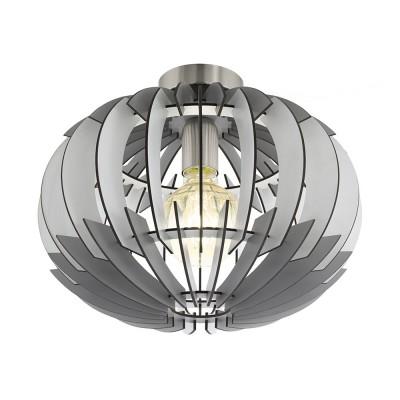 96971 Eglo - Потолочный светильник OLMEROлюстры хай тек потолочные<br><br><br>Установка на натяжной потолок: Ограниченно<br>S освещ. до, м2: 3<br>Крепление: планка<br>Тип лампы: накаливания / энергосбережения / LED-светодиодная<br>Тип цоколя: E27<br>Цвет арматуры: серебристый<br>Количество ламп: 1<br>Диаметр, мм мм: 350<br>Высота, мм: 280<br>Оттенок (цвет): белый<br>MAX мощность ламп, Вт: 60