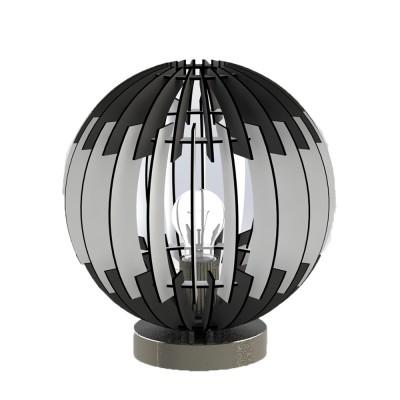 96975 Eglo - Настольная лампа OLMEROХай тек<br><br><br>Тип лампы: Накаливания / энергосбережения / светодиодная<br>Тип цоколя: E27<br>Количество ламп: 1<br>MAX мощность ламп, Вт: 60<br>Диаметр, мм мм: 300<br>Высота, мм: 315