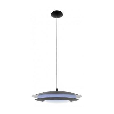 96979 Eglo - Светодиодный подвес MONEVA-C EGLO connectОдиночные<br><br><br>Установка на натяжной потолок: Да<br>Крепление: Планка<br>Цветовая t, К: 2700-6500<br>Тип лампы: LED - светодиодная<br>Тип цоколя: LED<br>Цвет арматуры: Черный<br>Диаметр, мм мм: 485<br>Высота, мм: 1500<br>MAX мощность ламп, Вт: 30